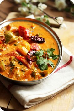 Creamy Tofu and Pepper Curry by Sia Krishna, via Flickr