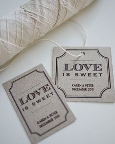 Love is Sweet Personalized Favor Tags