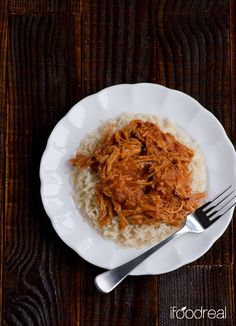 Clean Crock Pot Pulled Pork by ifoodreal #Pork #Crockpot #Clean