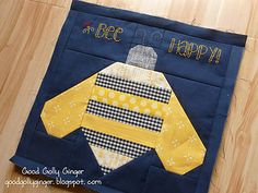 Bumble Bee block from Quilty Fun book