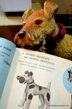 Antigo Brinquedo cachorro Fox Terrier da Estrela de 1960