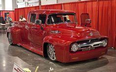 ❤ Best of Trucks @ MACHINE ❤ (Red 1956 Ford Custom Dually)