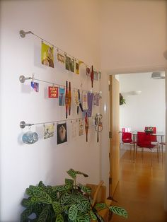 IKEA Hackers: Dignitet display.  Awesome way to display kids artwork.