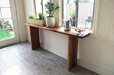 DIY Redwood Garden Shelf