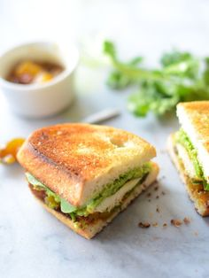 Curried Chicken & Avocado Sandwich