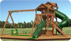 Swingset ideas on pinterest swing sets wooden swings for Creative swing set ideas