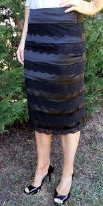 Satin and Lace Pencil Skirt on sale for $45