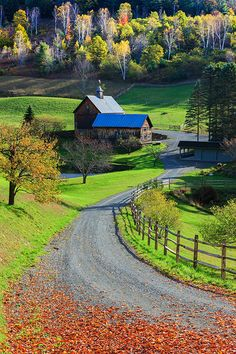 Fall in Sleepy Hollow Farm, Woodstock, Vermont