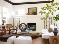 bungalow style - built ins beside fireplace!!!