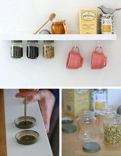 Idea de almacenaje de tés
