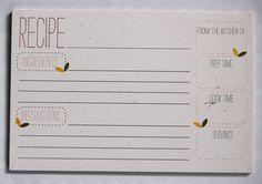 Spring Recipe Cards