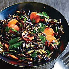 Wild Rice and Carrots | MyRecipes.com #myplate #grains