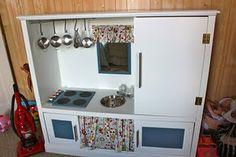 Kid kitchen from entertainment center