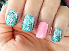 Amazing Contrast Color - Blue Glitter Nail Polish