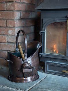 Burnished Copper Coal Scuttle  |  Cox & Cox