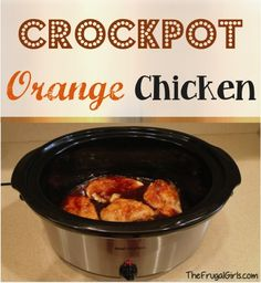 Crockpot Orange Chicken Recipe! ~ from TheFrugalGirls.com
