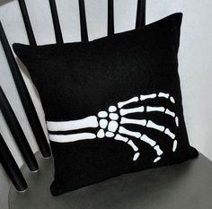 Skeleton Hand Pillow