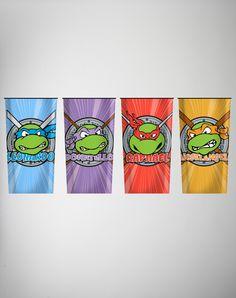 Teenage Mutant Ninja Turtles Party Glass 4 Pk