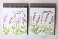 Make It Monday #158: Stamping With Watercolor Mediums - Wildflower Cards by Heather Nichols for Papertrey Ink (March 2014)