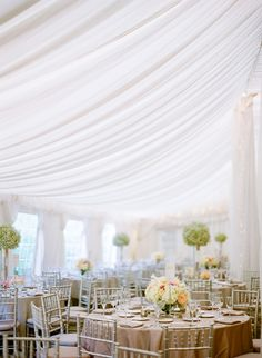 Wedding Decor: White Draping - Ramps up the Elegance | On SMP: http://www.stylemepretty.com/2013/11/20/a-maryland-estate-wedding-from-jodi-miller-photography | Photo: Jodi Miller