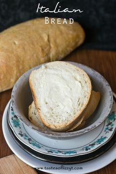 """Italian Bread {Tastes of Lizzy T} This is a """"cool rise"""" bread which means it is a great company bread. http://www.tastesoflizzyt.com/2014/02/24/italian-bread/"""
