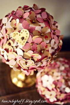 DIY Valentine Topiaries