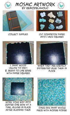 Mosaic Paper Art Tutorial #art #tutorial