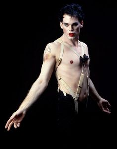 Michael C. Hall before Dexter, as the Emcee from Cabaret.