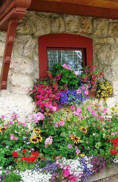 Cottage window box bouquet