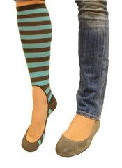 Keysocks. Awesome for flats and heels in the winter months.