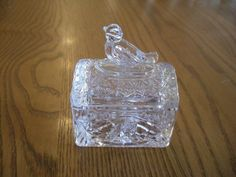 HOFBAUER CRYSTAL BYRDE VINTAGE GLASS BIRD TRINKET/BOX MADE IN GERMANY PERFECT!