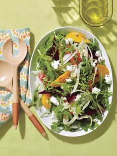 Roasted Beet and Goat Cheese Salad from Epicurious.com #myplate #veggies