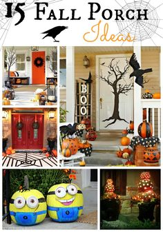 Is it bad that I'd love to do several of these for year around decorations?? 15 Fall Porch Ideas - Blissful and Domestic