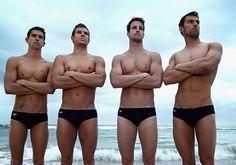 Australia Men's Olympic team with James Magnussen