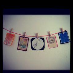 Verses. Clothespins. Ribbon.