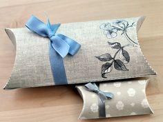Cajitas regalo vintage pillow box, gift boxes, printable templates, gift packaging, favor boxes, diy gifts, small gifts, box templates, diy pillows