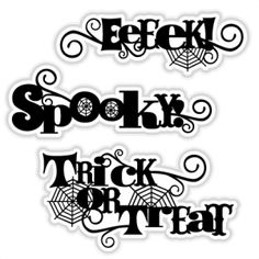 Halloween Title Set SVG scrapbook title SVG cutting files crow svg cut file halloween cute files for cricut cute cut files free svgs