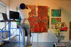 Ali Kay of Positive Space using Royal Design Studios to create incredible canvas artworks.