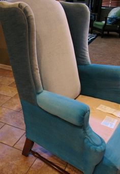 Oh...the possibilities!  Who knew there was a way to paint old fabric furniture? Way easier and cheaper then having it reupholstered! Repainting Old Furniture, Diy Painting, Painting Furniture, Painting Upholstery, Painted Crafty Furniture, Painting Fabric Furniture, Painting Chairs, Diy Upholstery Painting, Painting Fabrics