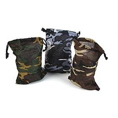 Camo bags for party favor bags for Hunter's 1st birthday party