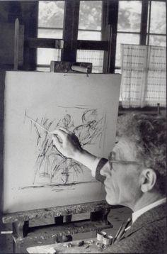 Alberto Giacometti, Stampa (Switzerland), 1961 -by Henri Cartier-Bresson