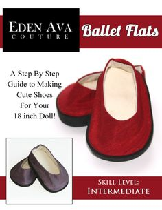 Ballet Flats girl doll, doll clothes patterns, doll pattern, ballet flats, flat shoes, doll stuff, doll shoe, doll american, american girls