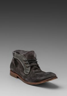 H BY HUDSON Merfield Suede Boot in Grey - H by Hudson
