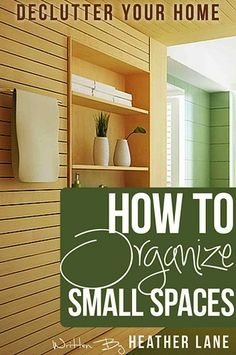 FREE e-Book: How to Organize Small Spaces {  Reader Tips}