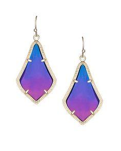 KS Alex earrings in black iridescent