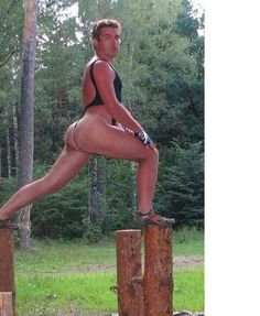 get down from that log & put some damn clothes on