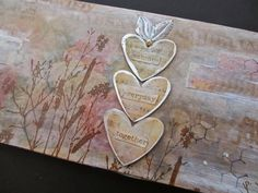 One Lucky Day: Test Drive: Metallic Distress Stains - mixed media with LOTS of Tim Holtz products