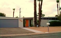 mid-century modern! home colors, mid century modern, door colors, palm springs, modern architecture, exterior colors, modern houses, midcenturi modern, design studios