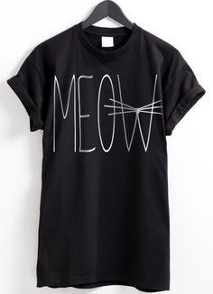 This Meow T-shirt is pretty cute!