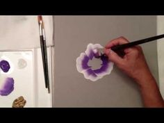 draw, april numamoto, how to paint a rose, idea, craft, how to folk art paint, one stroke painting videos, paints, art tutorials